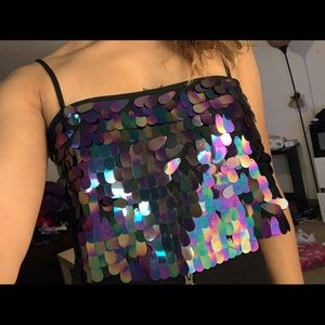 Sequins Crop Top !